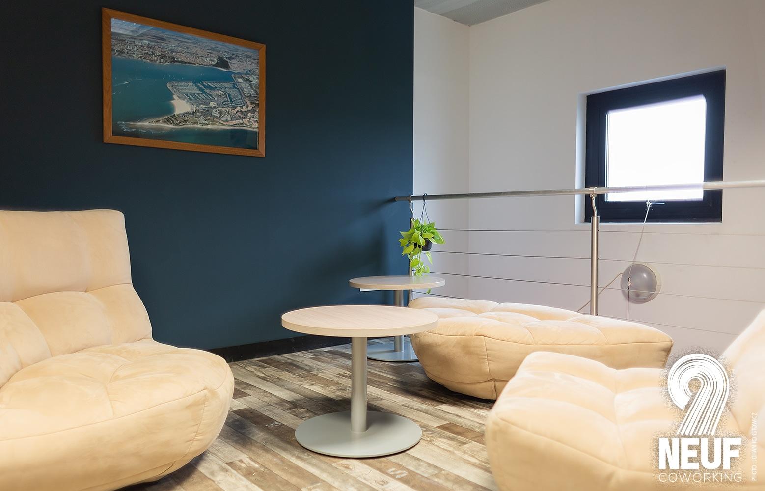 Espace de coworking à La Rochelle - Des espaces de travail adaptés aux indépendants comme aux salariés en télétravail.