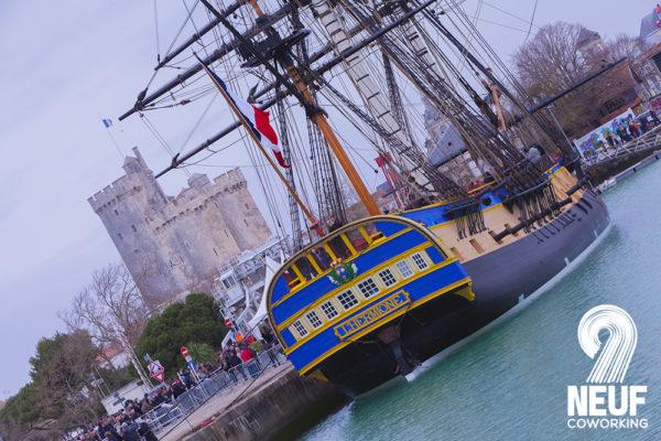 L'Hermione en escale à La Rochelle proche du 9 Coworking à La Rochelle